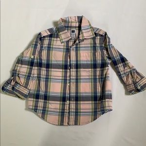 Janie and Jack button front baby boy shirt
